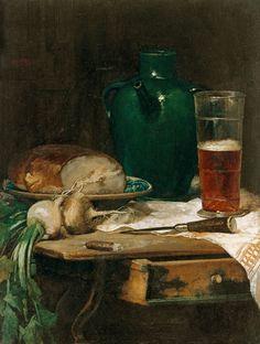 Ludwig Eibl. Nature morte avec le pain et la bière