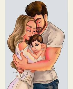 Love Cartoon Couple, Cute Couple Comics, Cute Love Cartoons, Cute Couple Art, Anime Love Couple, Girl Cartoon, Family Sketch, Family Drawing, Mother Daughter Art