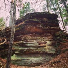 Rocky Arbor State Park is just a quick drive from Downtown Wisconsin Dells. Beautiful scenery is plentiful amongst the 1 mile hiking trail.