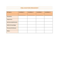 Form Interview Preparation Form  Human Resource Management Work