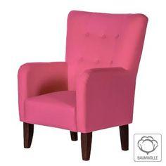 Sessel Karla - Baumwollstoff Pink