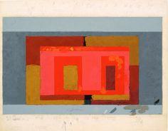 Josef Albers, Variant / Adobe, ca. 1947
