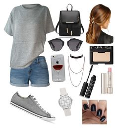 """"" by sara-m-shrekgast ❤ liked on Polyvore featuring LE3NO, Converse, Rosantica, Christian Dior, Reyes, NARS Cosmetics and By Terry"