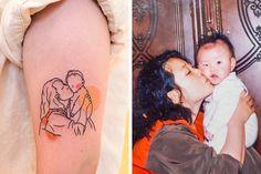 Tattoos That Keep Touching Memories Alive - Memory Tattoo Dad Tattoos, Sister Tattoos, Couple Tattoos, Mini Tattoos, Tribal Tattoos, Tattoos Skull, Tattoo Mama, Memorial Tattoos, Mehndi Tattoo