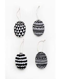 "Porselenspynt ""Egg"" (4 stk) Easter decoration Eggs Grapich Diy For Kids, Eggs, Drop Earrings, Decoration, Jewelry, Easter, Decor, Jewlery, Bijoux"