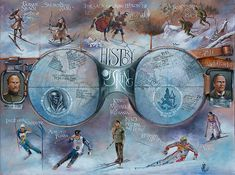 History of skiing map