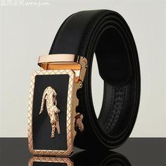 WOWTIGER Belt Man Hot Fashion Cowhide Leather men Designer Luxury Belt