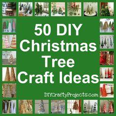 50 DIY Christmas Tree Craft Ideas Collection DIYCraftyProjects.com #Christmascrafts #Christmastree