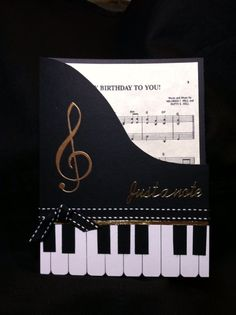 Birthday card for music lover