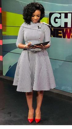 Newscaster Serwaa Amihere in work attire, work fashion, corporate attire, corporate fashion.You can find Corporate attire. 30 Outfits, Stylish Work Outfits, Dress Outfits, Woman Outfits, Classy Outfits, Short African Dresses, Latest African Fashion Dresses, Women's Fashion Dresses, Ankara Fashion
