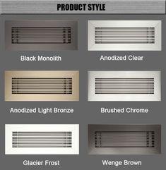 hvac system aluminum no hood vent supply air register floor air vent