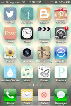 Customize your iPhone icons. Kerry has great pins. I always get good ideas from her boards.