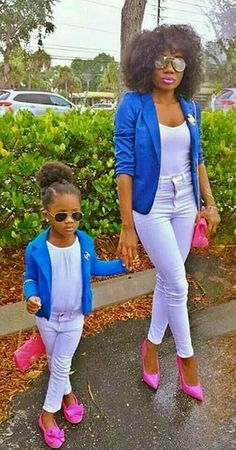 mommy and baby look