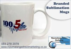 Get your branded mugs today: Min order each exc vat & courier Full-colour wrap-around, Sublimation coffee mugs