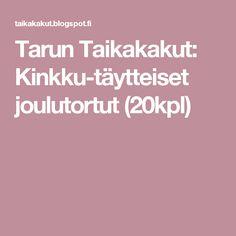 Tarun Taikakakut: Kinkku-täytteiset joulutortut (20kpl)
