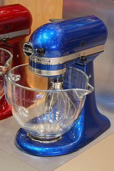 New Electric Blue KitchenAid Stand Mixer.