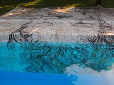 Omar Galliani Dalle stanze di Ophelia, 2007 smalto e sedimentazione organica su PVC, cm 400x400 varnish and organic sedimentation on PVC, cm 400x400 © Luca Trascinelli