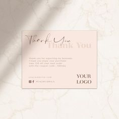 Excited to share this item from my shop: modern thank you card minimalist elagant simple branding teracota Thank You Card Design, Thank You Card Template, Thank You Card Sample, Business Branding, Business Card Design, Packaging Inspiration, Branding Design, Logo Design, Business Thank You Cards