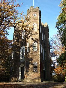 Severndroog Castle is a folly situated in Oxleas Wood, on Shooter's Hill in south-east London in the Royal Borough of Greenwich. It was designed by architect Richard Jupp in 1784.