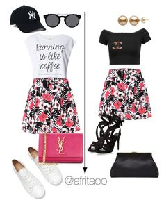 """""""Sin título #276"""" by afritaoo on Polyvore featuring Dorothy Perkins, Etro, Yves Saint Laurent, Alice + Olivia, Valentino y Chanel"""