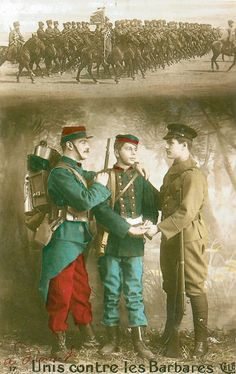 Carte Postale Postcard 1914-1918 Unis contre les Barbares Linked against the Barbarians | by loganinkosovo