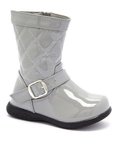 Gray Quilted Boot