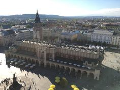 View from the top of St Mary's Basilica in Krakow Poland on a beautiful day. Near passed out climbing to the top but was worth every step. || Click on the photo to discover the most incredible destinations with us :)