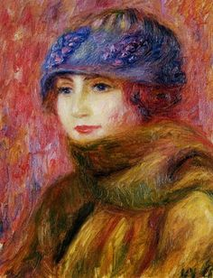 William Glackens (American Ashcan School Painter, 1870-1938) Woman in a Blue Hat