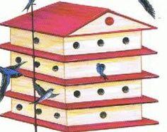 Résultats de recherche d'images pour «cabane oiseaux bois hirondelle plan»