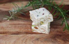 Torrone Sardo (Sardinian Nougat): 1/2 pound nuts, such as whole almonds 1/2 pound honey 2 egg whites