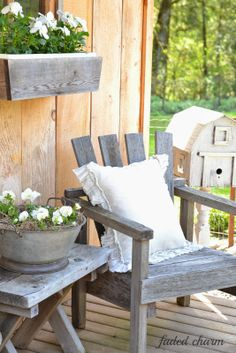 On the Back Porch with Kathleen of Faded Charm - Cedar Hill Farmhouse
