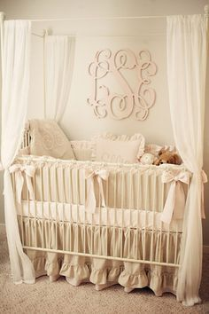 Beautiful soft pink and gray nursery
