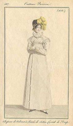 A redingote with cape. 1817 costume parisien