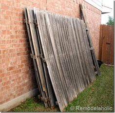 Reusing old fence pieces