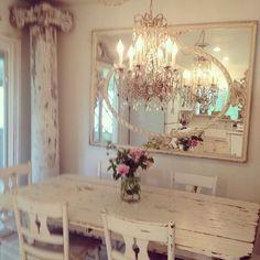 Elegant Chandelier and Mirror.
