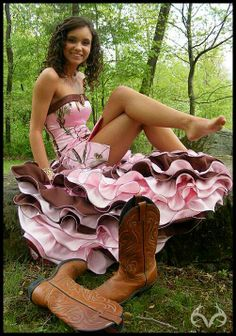 Realtree Pink Camo Prom Dress  #realtreecamo #pinkcamo #camodress