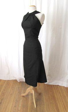 "1950's ""Haggerty's Los Angeles"" Designer Black Dress"