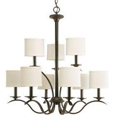 Progress Lighting Inspire 9-Light Antique Bronze Chandelier