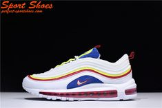 official photos 36928 f7feb Nike Air Max 97 Ultra SE 180229-101 GS White Blue Red Yallow