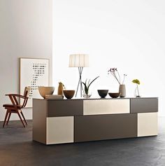 Incontro Sideboard By Sangiacomo, Italy. Fronts Th 30/20 Incontro In Ash