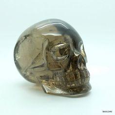 Smoky quartz skull by Leandro   #skull #humanskull #crystalskull #skulls4u #smokyquartz  https://www.skulls4u.com/index.php?_route_=leandro-crystal-skulls/smoky-quartz-skull.html