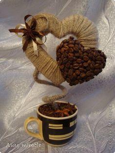 Бонсай топиарий Валентинов день Свадьба Моделирование конструирование Топиарии влюблённым Кофе Ленты Шпагат фото 1