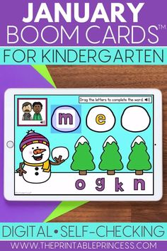 Help your students practice a variety of Kindergarten math and literacy skills while having fun! This January Boom Cards bundle includes 8 FULL winter themed decks that are perfect for January. These digital task cards are great for at-home virtual learning or at school. They are the perfect tool for differentiation while teaching students everything from CVC words, to sight words, to addition and teen numbers.  Implement these winter Boom Cards today!