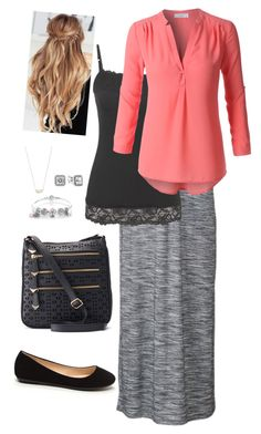 """""""Night on the town"""" by lizardbeth95 on Polyvore featuring Apt. 9, maurices, LE3NO, Pandora and Kendra Scott"""