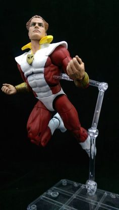 Starfox V2 (Marvel Legends) Custom Action Figure by Wings Base figure: Red Guardian with Wonderman's head
