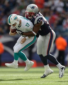 7fc186c24 LB Dont a Hightower (54) sacks Dolphins QB Ryan Tannehill in third quarter. New  England Patriots ...