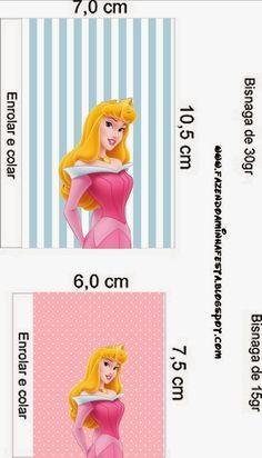 Bella Durmiente: Etiquetas para Candy Bar para Imprimir Gratis.Birthday