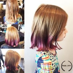 Mid-Length Cut with Colorful Ends
