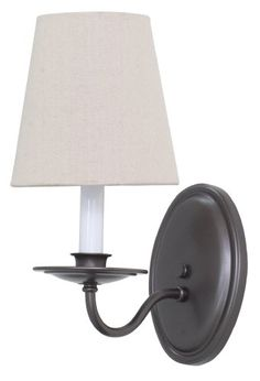 House of Troy Lighting LS217-MB Lake Shore 1-Light Wall Sconce with Natural Linen Fabric Shade, Mahogany Bronze Finish House of Troy Lighting http://www.amazon.com/dp/B00IOUHAVA/ref=cm_sw_r_pi_dp_eW0Rub05X77PX