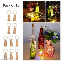 Lights Cork Led String Warm Lights (Pack of 10) Material: Plastic Pack: Multipack Cable Length: 2 M Country of Origin: India Sizes Available: Free Size   Catalog Rating: ★4.2 (1327)  Catalog Name: Classy Indoor String Lights CatalogID_1228753 C127-SC1620 Code: 906-7593114-9471